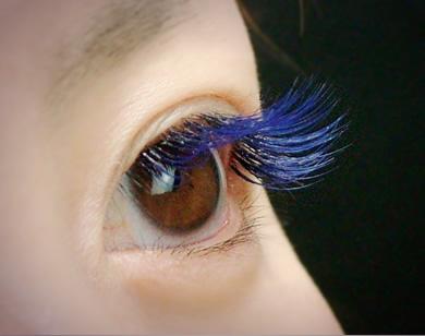 アイラッシュ カラーエクステ:ブルー